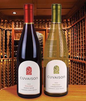 Cuvaison Chardonnay and Pinot Noir